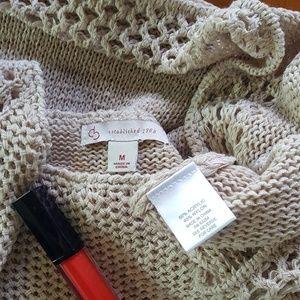 CB casual Sweaters - Rose CB Casual Crochet Sweater Top Tunic Vest M 8